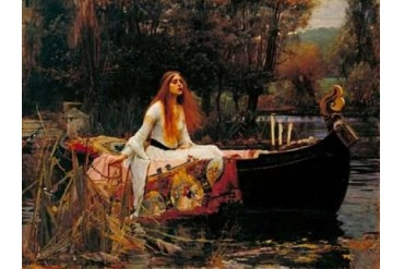 The Lady of Shalott Poster Print by John William Waterhouse (22 x 28)