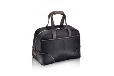 1774 - Black Coated Canvas Travel Bag