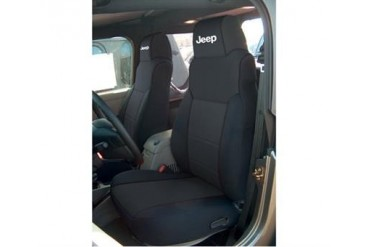 Coverking Jeep Logo Black Neoprene Front Seat Covers  SPC125L Seat Cover