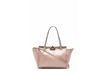 Valentino Pink Leather Rockstud Mini Tote