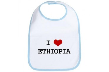I Heart ETHIOPIA Love Bib by CafePress