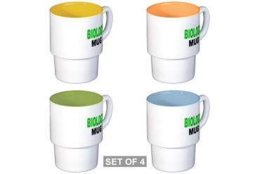 BIOLOGY MUG Funny Stackable Mug Set 4 mugs by CafePress
