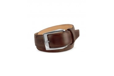 Men's Coffee Brown Hand Painted Italian Leather Belt