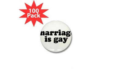 Gay Mini Button 100 pack by CafePress