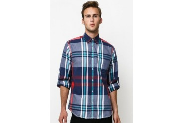 Intresse Casual Long Sleeve Cotton Check