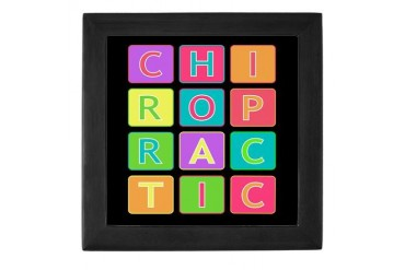 Chiro Blocks Christmas Keepsake Box by CafePress