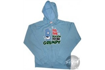 Care Bears Tis The Season To Be Grumpy Full Zipper Youth Hooded Sweatshirt