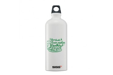 Dear Santa, I Can Explain EVERYTHING Sigg Water B Funny Sigg Water Bottle 0.6L by CafePress