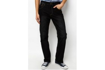 Criss Cross Single Rinsed Jeans