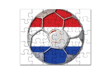 Paraguay Flag World Cup Soccer Futbol Football Bal Soccer Puzzle by CafePress