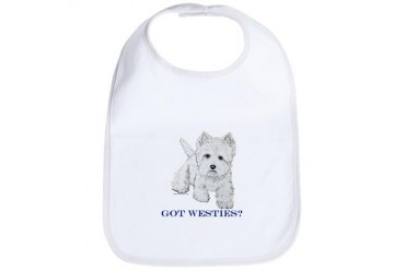 Got Westies? Dog breeds Bib by CafePress