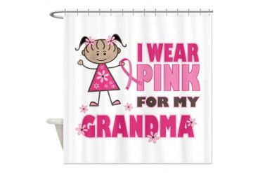 Wear Pink 4 Grandma Family Shower Curtain by CafePress