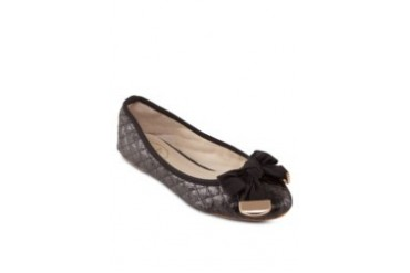 Sana Quilted Textured Metallic Flats