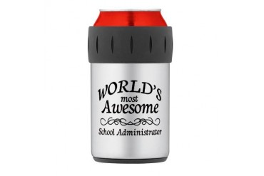 Awesome Thermos Can Cooler Teacher Thermosreg; Can Cooler by CafePress