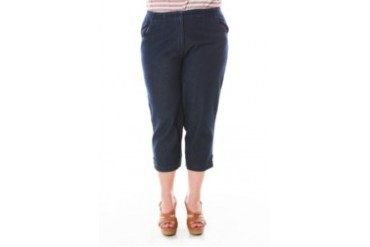 MAHRE CROPPED TWILL PANTS WITH BELT LOOPS