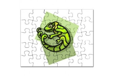 lizard.psd Pets Puzzle by CafePress