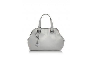 Pigalle Gray Saffiano Leather Tote