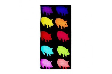 Rainbow Pigs Beach Towel