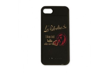 NaughtyQuotestalkaboutsextemptation copy.png iPhon Humor iPhone Charger Case by CafePress