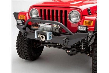 Body Armor 4x4 Jeep Wrangler Formed Front Bumper with Grill Guard and Winch Mount TJ-19531 Front Bumpers