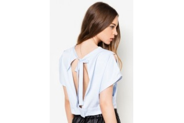 Something Borrowed Batwing Crop Top