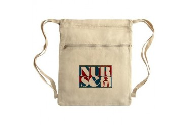NURSE2B.png Sack Pack Nurse Cinch Sack by CafePress