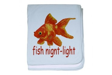 Fish Night-light Geek baby blanket by CafePress