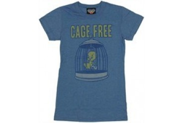 Looney Tunes Tweety Bird Cage Free Baby Doll Tee by JUNK FOOD