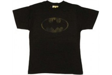 Batman Heavily Distressed Logo T-Shirt Sheer