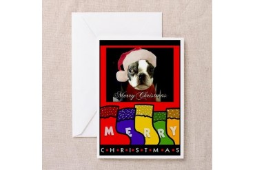 MERRY CHRISTMAS Pets Greeting Cards Pk of 10 by CafePress