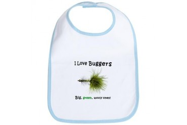 I Love Buggers Baby Bib by CafePress