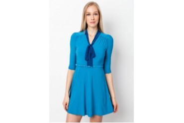KN KEY NG Pussybow Dress with Belt
