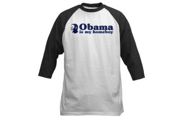 Obama is my homeboy Baseball Jersey