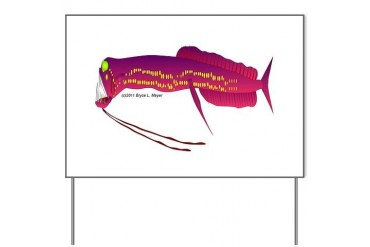 Deep Sea Dragonfish Teeth Yard Sign by CafePress