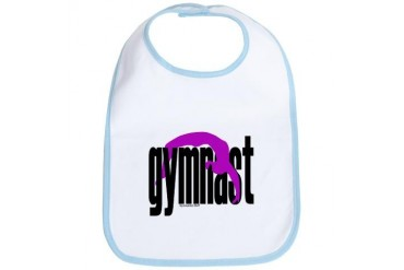 Gymnastics Baby Sports Bib by CafePress