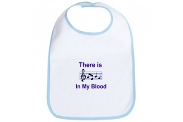 CafePress There is music in my blood Bib
