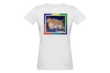Pinta the Hedgehog Ash Grey T-Shirt T-Shirt Hedgehog Organic Women's T-Shirt by CafePress