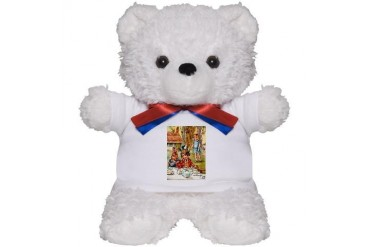 Mad Hatter's Tea Party Baby Teddy Bear by CafePress