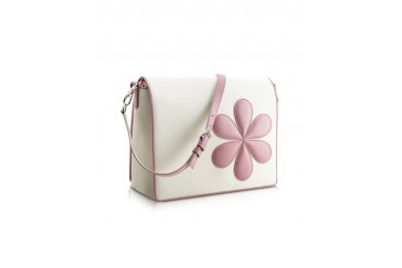 Pink Flower Messenger Changing Bag