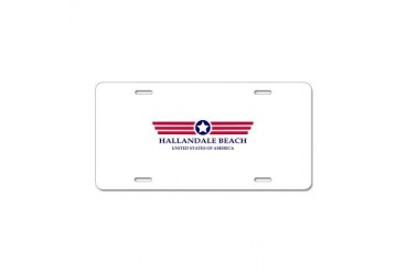 Hallandale Beach Pride Florida Aluminum License Plate by CafePress