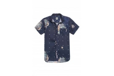 Mens Civil Shirts - Civil Floral Star Claude Woven Shirt