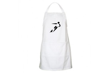 Kick Cat Funny Apron by CafePress