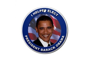 I Helped Elect Obama Ornament (Round)