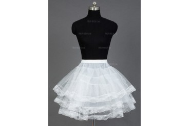 Women/Girls Nylon/Tulle Netting Short-length 3 Tiers Petticoats (037031012)