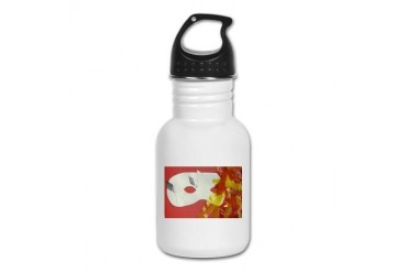 Flame Mask Fantasy Kid's Water Bottle by CafePress