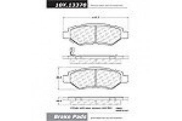2008-2012 Cadillac CTS Brake Pad Set Centric Cadillac Brake Pad Set 105.13370