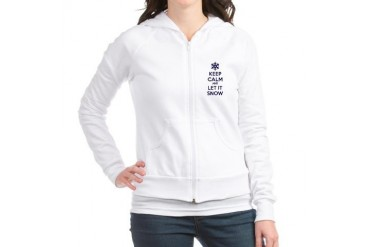 Keep calm and let it snow Funny Jr. Hoodie by CafePress