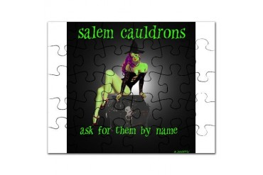 salemcauldrons1.png Art Puzzle by CafePress