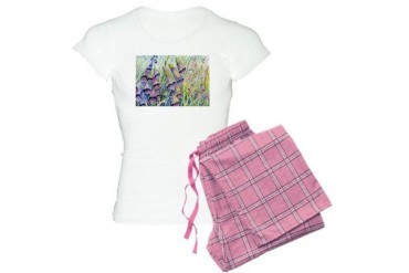 Foxgloves Nature Women's Light Pajamas by CafePress