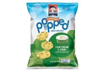 Quaker Popped Sour Cream amp Onion Rice Crisps